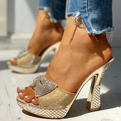 Σανδάλια Ανοιχτά σανδάλια toe Παντούφλες Με Τεχνητό διαμάντι Bowknot παπούτσια