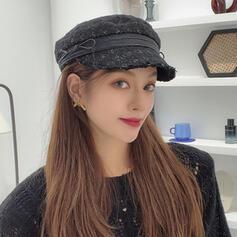 Kvinder Classic/Enkle/Charmen Bomuld med Kvaster Baret Hat