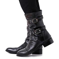 Pentru Femei Imitaţie de Piele Toc jos Cizme cu Nit Cataramă Volane pantofi