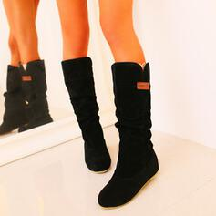 Dámské PU Nízký podpatek Boty Boty do sněhu Kolem špičky S Solid Color obuv