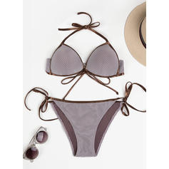 Cintura Baja Tanga Cadena Sin Mangas Sexy Bikinis Trajes de baño