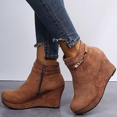De mujer Ante Tipo de tacón Botas al tobillo con Cremallera zapatos