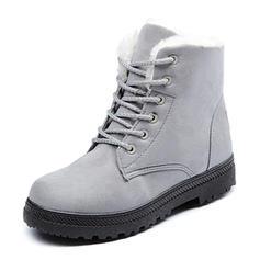 Pentru Femei Piele de Căprioară Fară Toc Balerini Cizme cu Lace-up pantofi