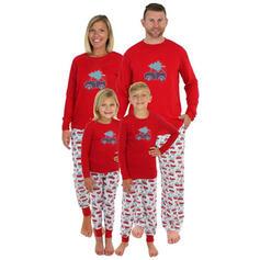 Tecknad Matchande familj Jul Pyjamas
