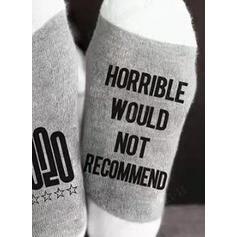 Dopis/Tisk Komfortní/Vánoce/Posádkové ponožky/2020/Unisex Ponožky