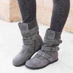 Dámské Semiš Placatý podpatek Boty do sněhu Kolem špičky S Přezka Zip Solid Color obuv
