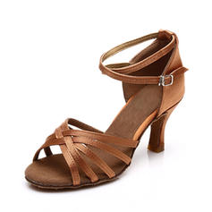 Bayanlar Latince Sandalet Saten Ile Ayak bileği kayışı Latince