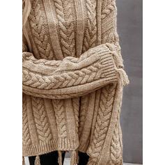 Solido Cavo Knit Girocollo Casual Maglioni