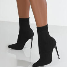 De mujer Ante Tacón stilettos Botas Botas al tobillo con Banda elástica Color sólido zapatos