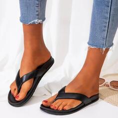 De mujer PVC Tacón plano Sandalias Planos Encaje Chancletas Pantuflas con Agujereado Cruzado zapatos