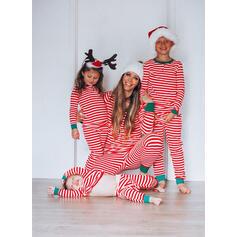 A Righe Famiglia Partita Di Natale Pajamas