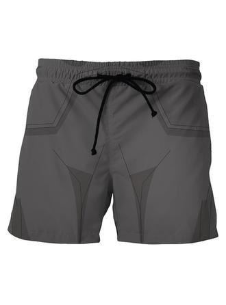 A bărbaţilor Imprimeu Pantaloni scurți Costum de Baie