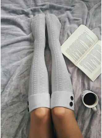 Στερεό χρώμα Αναπνεύσιμος/Ανετος/Γυναίκες/Κάλτσες μοσχάρι Κάλτσες/Κάλτσες