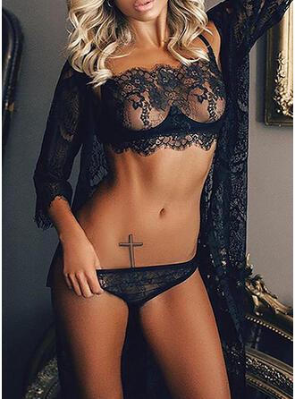 Dello spandex Pizzo Patchwork Set di lingerie
