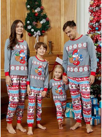 Κινούμενα Σχέδια Τυπώνω Οικογένεια Εμφάνιση Χριστουγεννιάτικες πιτζάμες