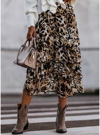 Şifon Tulle Sequin Metal leopard Maxi Sexy Plus mărimea