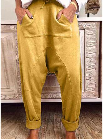 tasche arricciato Coulisse Casuale Sportivo Pantaloni