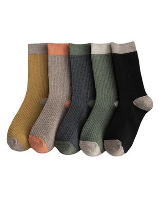 Jednobarevná Komfortní/Posádkové ponožky/Unisex Ponožky