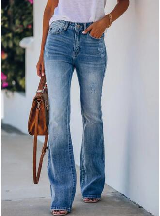fickor Shirred Elegant Sexig Denim & Jeans