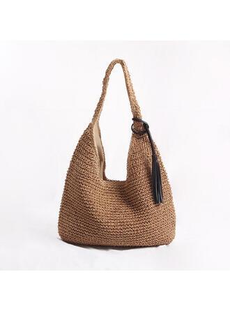 Classica/Polpetta a forma di/Stile boemo/intrecciato Borse di tela/Borse da spiaggia/Hobo Bags