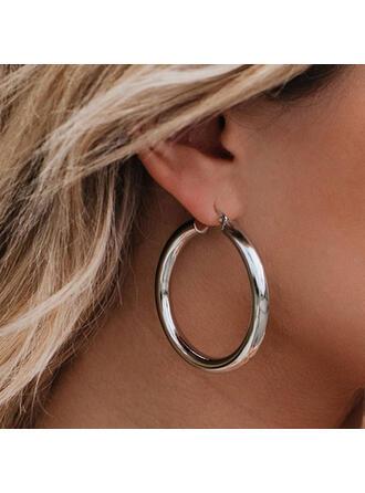 Modern Klassisk stil Enkel Legering med Minimalistisk Cirkeldekor Kvinnor örhängen 2 st