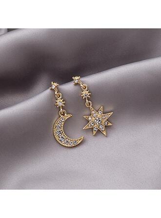 Stjärnor Legering Strass med Stjärna Kvinnor örhängen 2 st