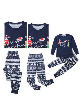 Santa claus Carta Impresión Familia a juego Pijamas De Navidad