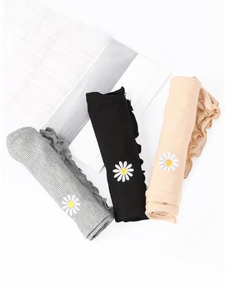Cor sólida Bordados Floral Sólido Slip Calcinha
