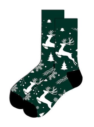 Print/Christmas Reindeer Comfortable/Christmas/Crew Socks/Unisex Socks