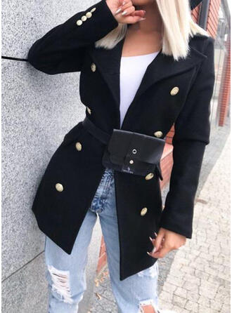 長袖 固体 ジャケット