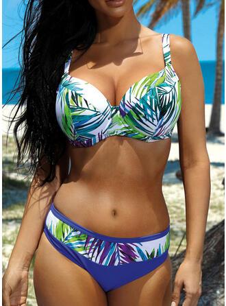 Cintura Baja Hojas Empujar Correa Bohemio Bikinis Trajes de baño