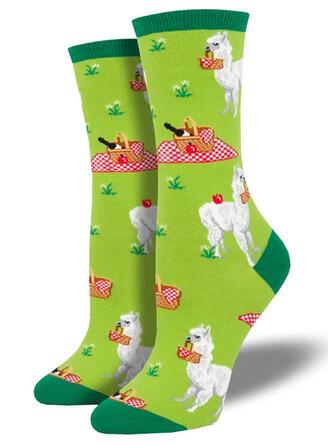 Animal Print Comfortable/Crew Socks/Unisex Socks