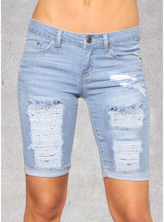 Pockets Ripped Skinny Denim Denim & Jeans