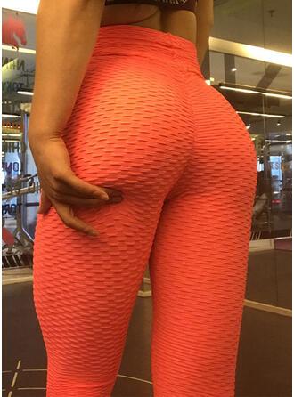 Polyester Jednobarevný Kalhoty na jógu / fitness Odvod vlhkosti