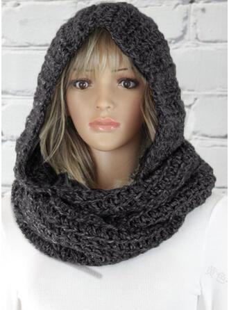 Couleur unie/Crochet Tête/mode/Température froide Écharpe
