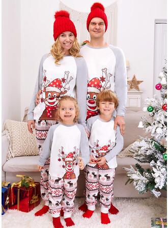Reno Trozos de color Impresión Familia a juego Pijamas De Navidad