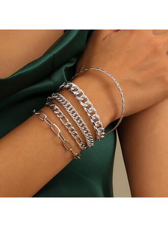 med Guldpläterad Kvinnor Damer' Armband 5 st