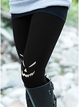 Halloween Estampado Caricatura Grandes Casual Tamanho positivo Bolso Leggings