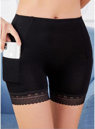 Krajka Jednobarevný Stručný Kalhotky