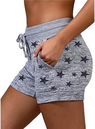 Star Algodón Casual Deportivo Tallas Grande Bolsillo cordraystring Pantalones Pantalones cortos