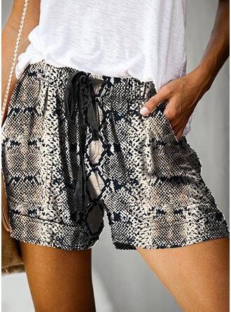 Impresión Por encima de la rodilla Casual Pantalones