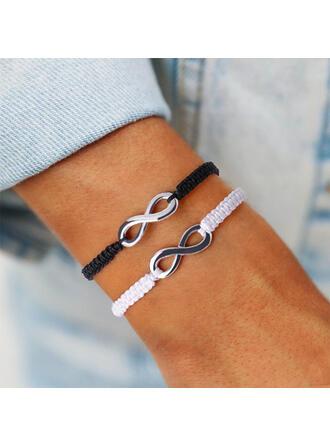 Eenvoudig Oneindigheid Legering Gevlochten Touw Armbanden