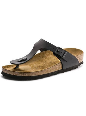 Femmes PU Talon plat Sandales Escarpins Chaussons chaussures