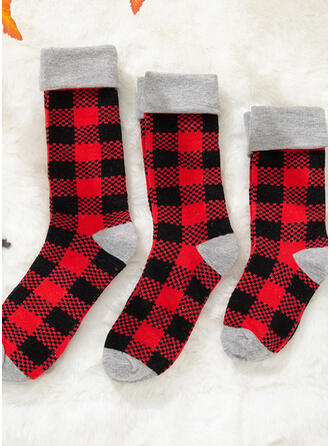 Plaid Confortable/Noël/Chaussettes Crew/Tenue Familiale Assortie/Unisexe Chaussettes