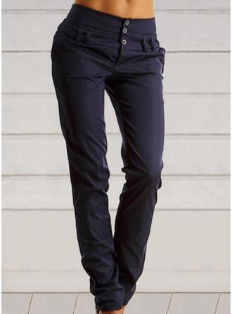 Jednolity Marszczona Duży rozmiar Nieformalny Zabytkowe Spodnie
