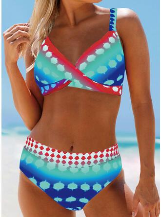 Punto Cintura Alta Correa Bohemio Bikinis Trajes de baño