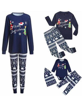 Santa claus Oso Carta Familia a juego Pijamas De Navidad