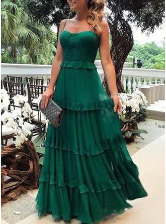 Sólido Sin mangas Acampanado Fiesta/Elegante Maxi Vestidos
