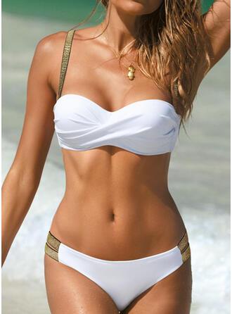 Culoare tare Yukarı itmek Curea Sexy Bikini Mayolar