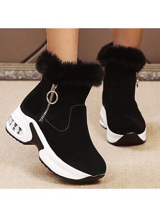 De mujer Ante Plataforma Botas con Rhinestone Cremallera Piel Sintética zapatos